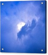 Brilliant Blue Cloud Formation With Sun Glow Acrylic Print