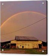 Brilliant Evening Double Rainbow Acrylic Print