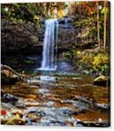 Brilliant Fall Waterfall At Cloudland Canyon Acrylic Print