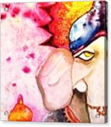 Brilliant Ganesh Acrylic Print