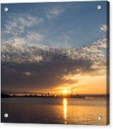 Brilliant Toronto Skyline Sunrise Over Lake Ontario Acrylic Print