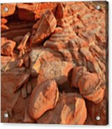 Brilliantly Colored Sandstone At Sunrise In Valley Of Fire Acrylic Print
