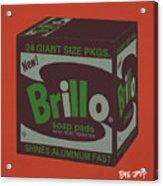 Brillo Box Colored 1 - Warhol Inspired Acrylic Print