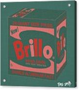 Brillo Box Colored 10 - Warhol Inspired Acrylic Print