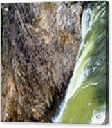 Brink of the Lower Falls of the Yellowstone River 2P Acrylic Print