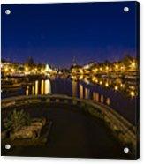 Bristol Docks By Night  Acrylic Print
