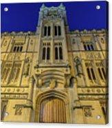 Bristol Guildhall By Night Acrylic Print