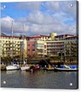 Bristol Harbour Appartments Acrylic Print