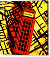Brit Phone Box Acrylic Print