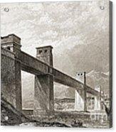 Britannia Bridge Across Menai Strait Acrylic Print