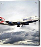 British Airways 747 G-civi Acrylic Print