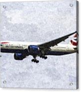 British Airways Boeing 777 Art Acrylic Print