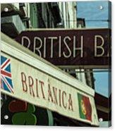 British Bar Britanica  Acrylic Print