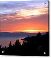 British Columbia Sunset Acrylic Print