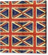 British Flag Collage One Acrylic Print