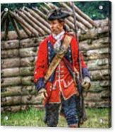 British Officer At Fort Ligonier 1758 Acrylic Print