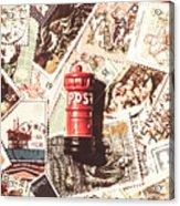 British Post Box Acrylic Print