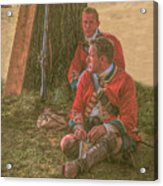 British Soldiers In Camp Acrylic Print