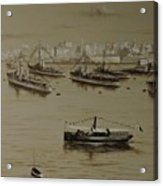British Warships In Malta Harbour 1941 Acrylic Print