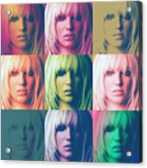 Britney Spears Pastel Warhol By Gbs Acrylic Print