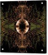 Broach Of Dried Leaves / Warm  Acrylic Print