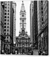 Broad Street At City Hall Acrylic Print