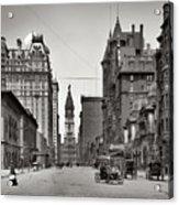 Broad Street Philadelphia 1905 Acrylic Print by Bill Cannon