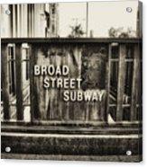 Broad Street Subway - Philadelphia Acrylic Print