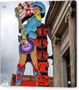 Broadway Boots - Nashville Tn Acrylic Print