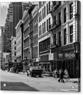 Broadway, New York In Black And White Acrylic Print