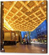 Broadway Theater Marquee Lights In Downtown Acrylic Print