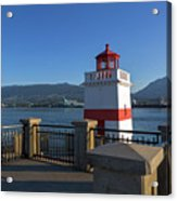 Brockton Point Lighthouse In Vancouver Bc Acrylic Print