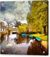 Broek In Waterland Acrylic Print