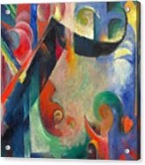 Broken Forms By Franz Marc Modern Bright Colored Painting  Acrylic Print