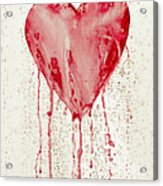 Broken Heart - Bleeding Heart Acrylic Print