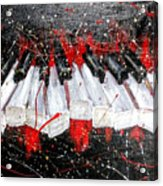 Broken Keys Red Acrylic Print