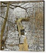 Broken Pier On The Lake. Acrylic Print