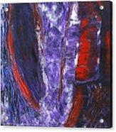 Broken Purple Heart Acrylic Print