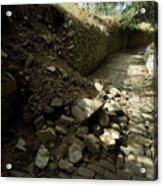 Broken Stone Wall Cascades Stones Acrylic Print