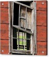 Broken Window Frame Acrylic Print