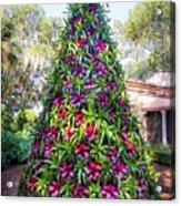 Bromeliad Christmas Tree At Pinewood Estate, Bok Tower Acrylic Print
