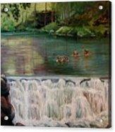 Bronxville Lake Acrylic Print