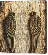 Bronze Angel Wings Acrylic Print