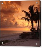 Bronze Beach Sunset Acrylic Print