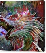 Bronze Dragon Head Acrylic Print