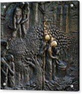 Bronze Sculptured Church Door - Slovenia Acrylic Print