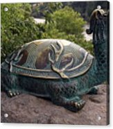Bronze Turtle Dragon Sculpture Acrylic Print