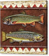 Brook And Brown Trout Lodge Acrylic Print by JQ Licensing