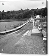 Brookfield, Vt - Floating Bridge 5 Bw Acrylic Print