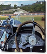 Brooklands From The Hot Seat  Acrylic Print by Richard Wheatland